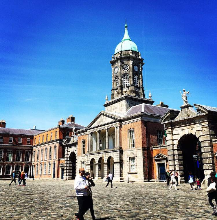 The courtyard at Dublin Castle