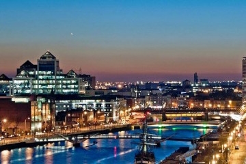 Dublin city skyline