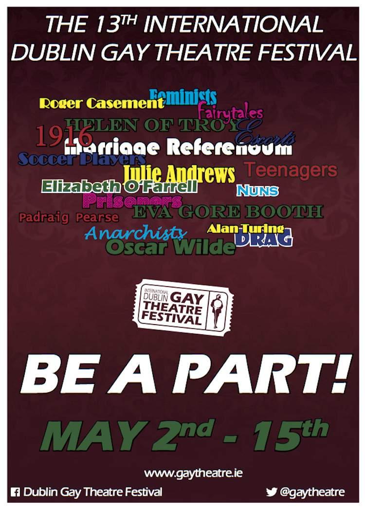 International Dublin Gay Theatre Festival poster 2016