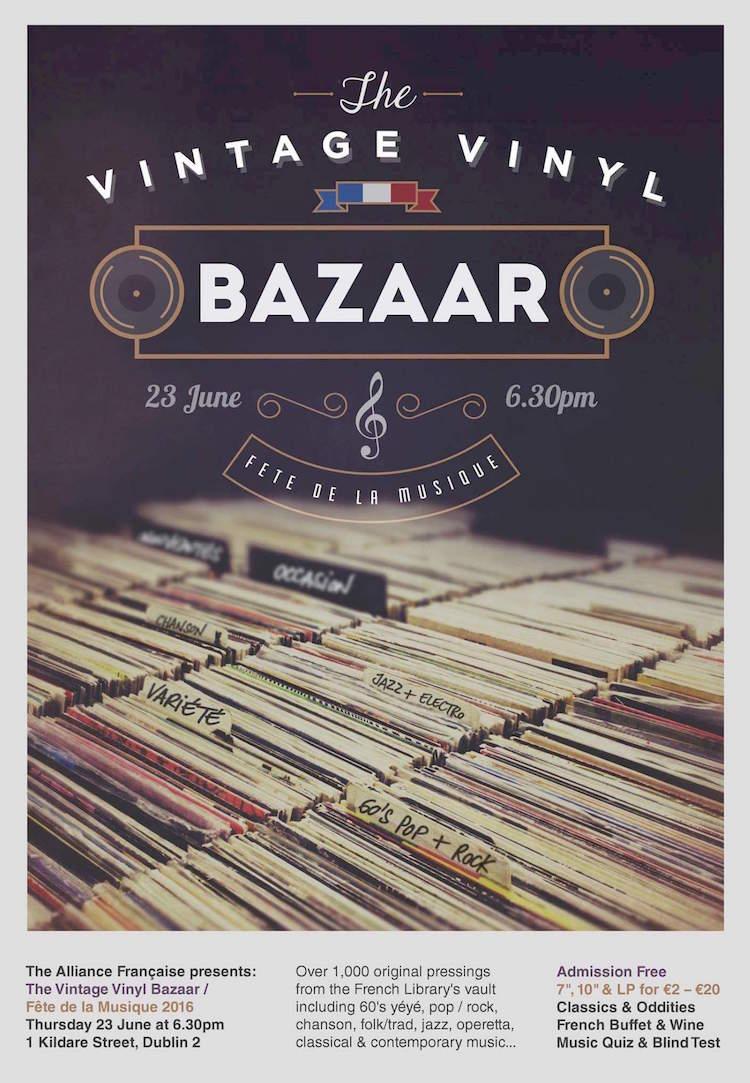 Vintage Vinyl Bazaar at Alliance Française Dublin