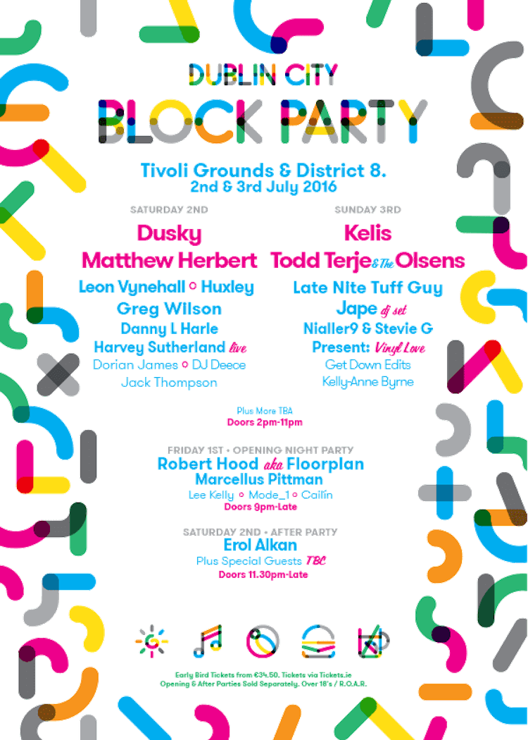 Dublin City Block Party 2016 poster