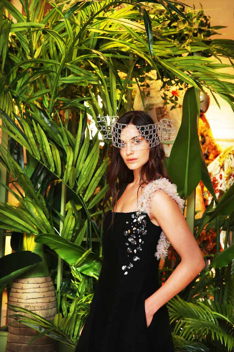 CREATE - Abby Harris wears Sarah Murphy dress and Leonora Ferguson headpiece